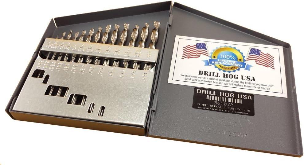 Drill Hog Genuine 13 Pc NIOBIUM Left Bit Hand Bits Index Set Ranking TOP14