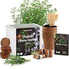 SPADE TO FORK KITS - Our company is family owned and operated right here on our 40 acre farm in rural Oregon. Each Spade To Fork plant sprouting box set contains 5 types of Certified USDA Organic Non GMO seeds, including Italian Large Leaf Basil, Cor...