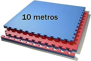 comprar comparacion Grupo Contact 10 m. Cuadrados de Tatami (Rojo/Azul) de Grosor 2 cm. Medida 1 x 1 m.