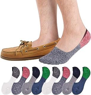 SIXDAYSOX Men's 8 Pairs No Show Odor-Resistant Non Slip...