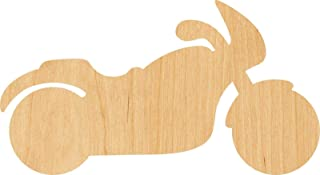 buyallstore Motorcycle Laser Cut Out Wood Shape Craft Supply - Woodcraft (1/8 Inch, 2
