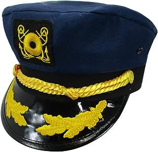 Yacht Skipper Hat Ship Captain Cap Costume Sailor Boat Ship Captains,Navy,Adjustable