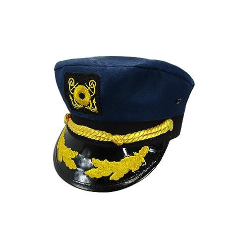 Navy Blue Captains Hats: Amazon com