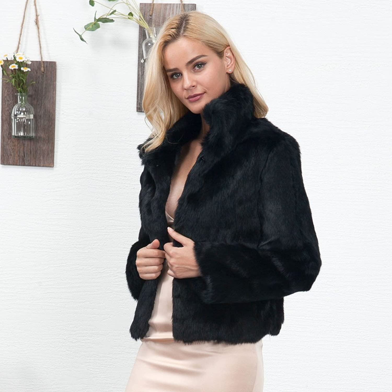 Sinwo Womens Warm Faux Fur Coat Jacket Winter Parka Outerwear Loose Coat Warm Coat