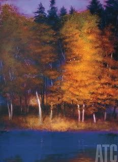 ArtToCanvas 26W x 36H inches : Harmony in Purple by Robert Striffolino - Framed Canvas w/Brushstrokes