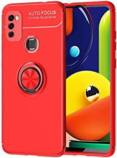 TingYR Case for Realme V13 5G, Ring Buckle Bracket, Soft TPU, Car Magnet Piece, Phone Case for Realme V13 5G.(Red)