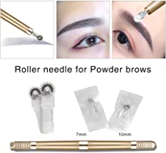 ELEVEN EVER Microblading Needles roller Permanent Makeup Fog Shading Powder Brows Roller Needles Fast Coloring for Eyebrow Beauty (7mm/10mm+Pen)