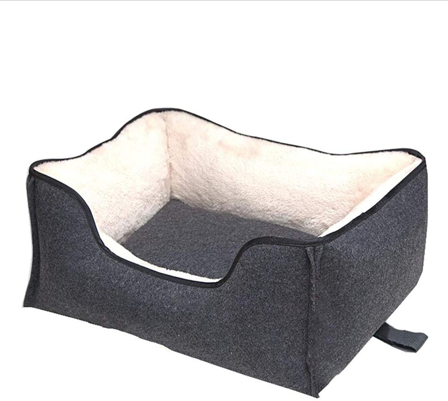 Cat Nest Pet Bed Cat Kennel Pet Sofa Pet Nest Dog Nest Kennel Square WearResistant AntiSlip Detachable Indoor Haiming (color   Beige, Size   M)