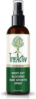 TreeActiv Men's DHT Blocking Hair Growth Spray, DHT Blocker for Hair Growth, Blocks Conversion of Testosterone to DHT, Reduces Hair Frizz, Moisturizes Hair Follicles, Adds Volume, 4oz