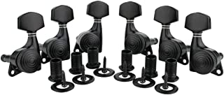 Guyker 6Pcs Guitar Locking Tuners (3L + 3R) – 1:20 Lock String Sealed Tuning Key Pegs Machine Heads Set Replacement for ST TL SG LP Style Electric or Acoustic Guitars – Black