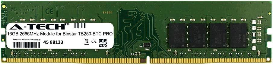 A-Tech 16GB Module for Biostar TB250-BTC PRO Desktop & Workstation Motherboard Compatible DDR4 2666Mhz Memory Ram (ATMS391673A25823X1)