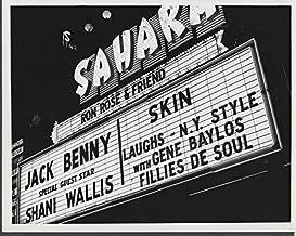 Las Vegas Sahara marquee 1960s Jack Benny Shani Wallis Gene Baylos 8x10
