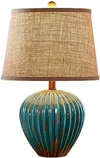 Elegant Enkelhet Retro Bordslampa, Nostalgi Bordslampa Keramik Röd Blå Ljus Läslampa Vardagsrum Sovrum Skrivbordslampa Bel...