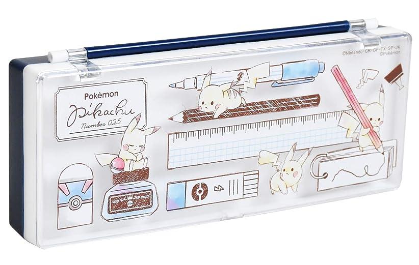 干ばつ細部大工Pokemon ポケモン ピカチュウ 2段 プラスチック ペンケース プラペンケース 筆箱 09308 文房具