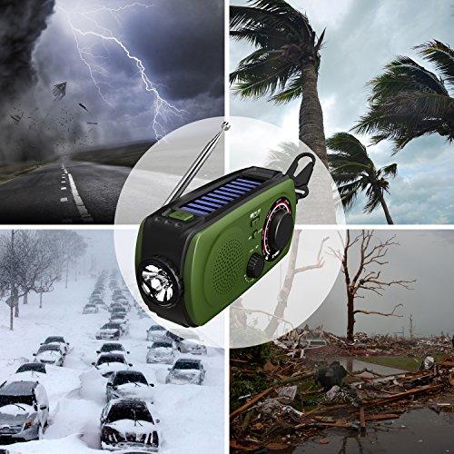 防災ラジオVMEIラジオ小型、照明器具、ライト、手動クランク充電、USB充電、防災、2000mAH、地震、津波、台風、停電、緊急保護、iPhoneと互換性があります、Android、スマートフォン充電、手巻きラジオマニュアルが含まれています