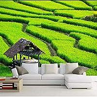 Djskhf カスタム壁画3D壁紙緑の風景シンプルな美的Hdテレビ壁リビングルーム寝室壁画写真壁紙装飾アートフレスコ画 240X165Cm