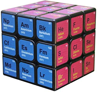 3x3x3 Cube 5.6CM Speed Rubik's Cube Chemical Element Periodic Table Third Order Cube Learning Formula Educational Toy AXCDE