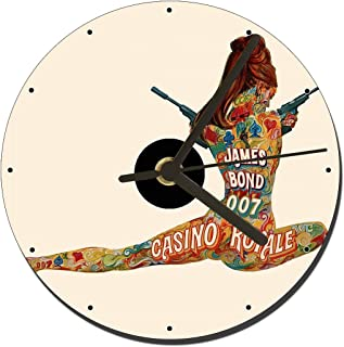 MasTazas James Bond 007 Casino Royale 1967 Reloj CD Clock 12cm