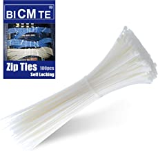 Cable Ties - Nylon Zip Cable Ties Industrial Multi-Purpose UV Resistant White Cable Ties, Wire Ties for Organizing Wires,W...