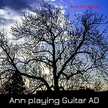 Ann playing Guitar AD