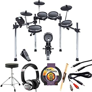 Alesis Surge Mesh Kit Eight-Piece Electronic Drum Kit with Mesh Heads +Drum Throne + Headphones+ Instrument Cable+ Stereo Interconnect Cable+ 1/8 Inch to Dual RCA Adapter Cable+ Drumsticks