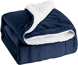 Sherpa Bed Blanket Twin Plush Throw Blanket Fleece Reversible Flanne Blanket - Warm and Plush Travel Blanket for Bed Sofa ...