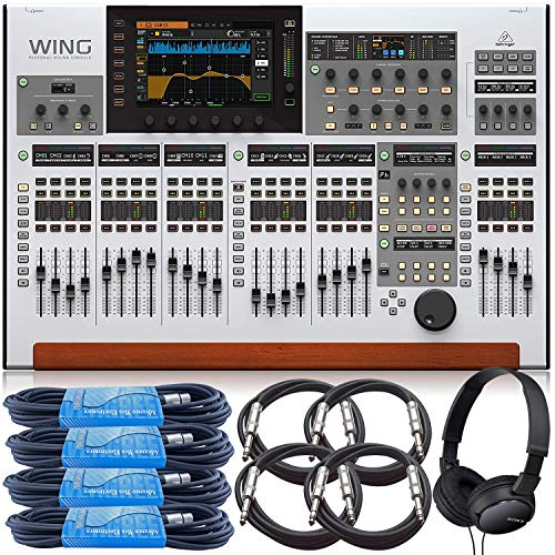 Buy Bargain Behringer WING 48-Channel Digital Mixing Console bundled with 4 x 20-Ft XLR Cables, 4 x ...