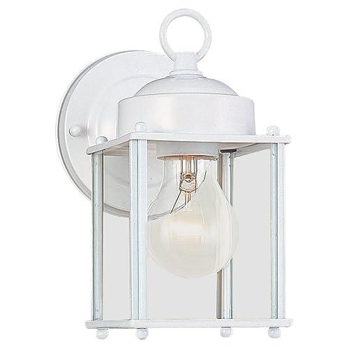 Exterior Light Fixtures In White Amazon Com