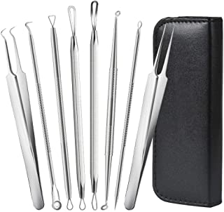 Blackhead Remover Pimple Comedone Extractor Tool Best Acne Removal Kit - JR INTL Treatment for Blemish, Whitehead Popping, Zit Removing for Risk Free Nose Face Skin with Metal Case