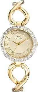 Clyda - CLA0702HTRW - Montre Femme Acier Doré & Lunette d'Oxydes