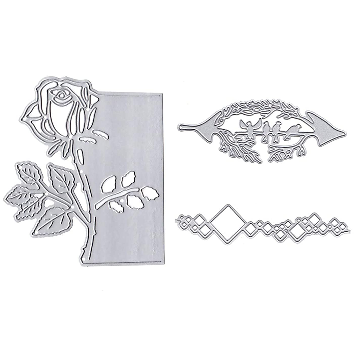 iSuperb Cutting Dies Stencil for Scrapbooking Embossing Making Paper Card Crafts,Metal Mold for DIY Photo Album Creative Tools (Garden)