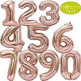 stshell 誕生日 飾り 風船 セット 数字バルーン バースデー パーティー 誕生日 飾り付け ローズゴールド