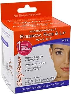 Sally Hansen Microwaveable Wax Kit For Eyebrow/Face/Lip (6 Pack)