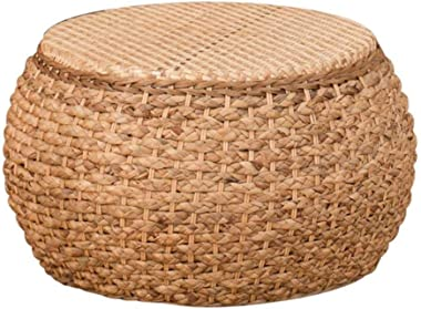 Ottomans Footstools Low Stool Rattan Solid Wood Footstool Straw Adult Living Room Retro Changing His Shoes Stool Small Sofa S