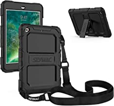 SEYMAC iPad Mini 1 2 3 Case, Three Layer Heavy Shockproof Protective Case with Kickstand [Shoulder Strap] Compatible with iPad Mini 1/2/3 Generation (Black)