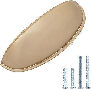 AmazonBasics - Tirador de armario 105 cm de longitud (762 cm centro del agujero) color dorado champán AB1800-GC-10