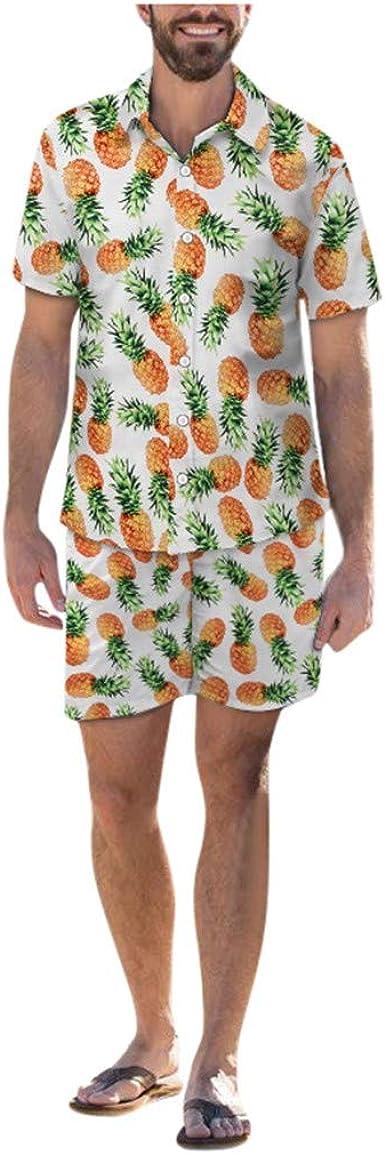 SUMTTER - Disfraz de Hawaii Corto para Hombre, Camisa ...