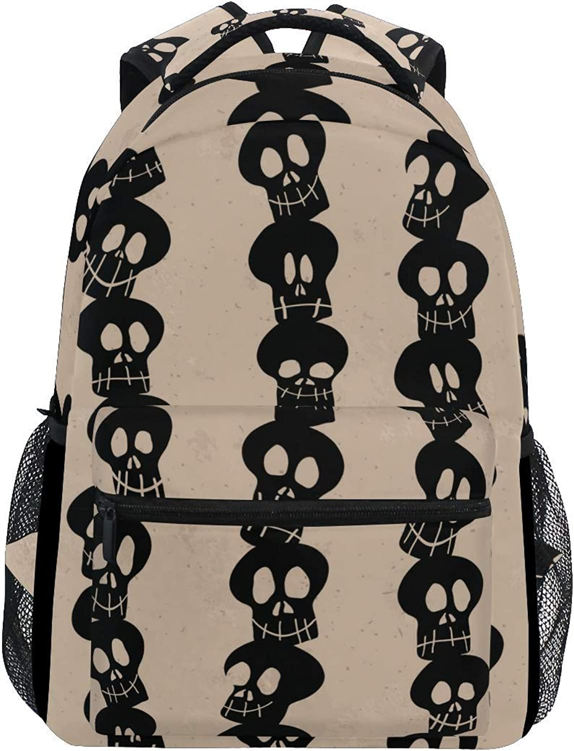 Cartoon Backpack Backpack School School School Bag Laptop Travel Bags for Kids Boys Girls Women Men Vintage Skulls Halloween Autumn Fall Thanksgiving Day fa7d5a