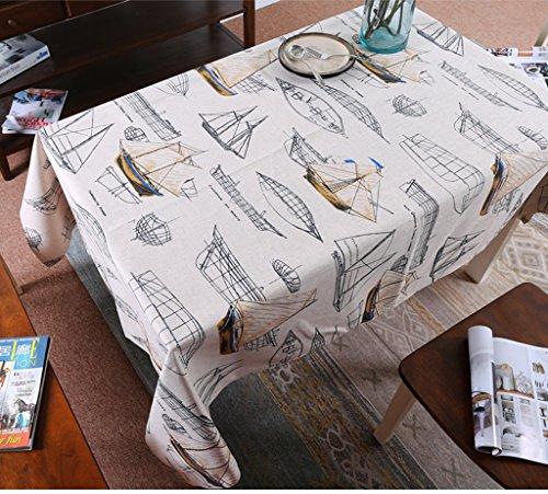 WOFULL Middellandse Zee zeilen Wallpapers Art tafelkleed katoenen deksel koffietafel doek bekleding