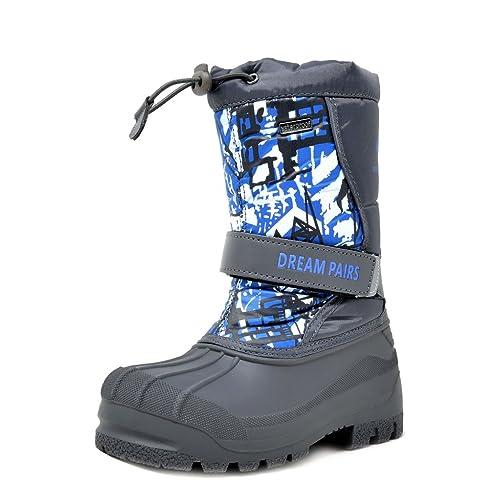 88ee8d4f1e1ea DREAM PAIRS Boys   Girls Toddler Little Kid Big Kid Mid Calf Waterproof  Winter