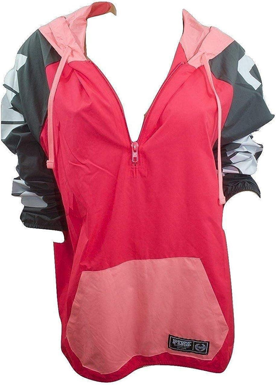 Victoria's Secret Pink Colorblock Half Windbreaker 美品 Jacket Anorak 在庫一掃売り切りセール