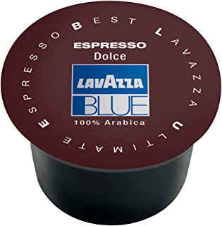 Lavazza BLUE Capsules, Espresso Dolce Coffee Blend, Medium Roast, 28.2-Ounce Boxes (Pack of 100)