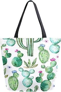 Cactus Desert Landscape all over print pretty tote bag for desert cactus lovers grocery bag multiple sizes