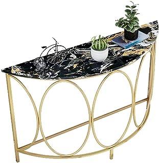 Mesas Wang Tabla Nordic Mármol Metal aparador Armario salón Comedor o Sala de Estar Muebles (Size : 80 * 30 * 85cm)