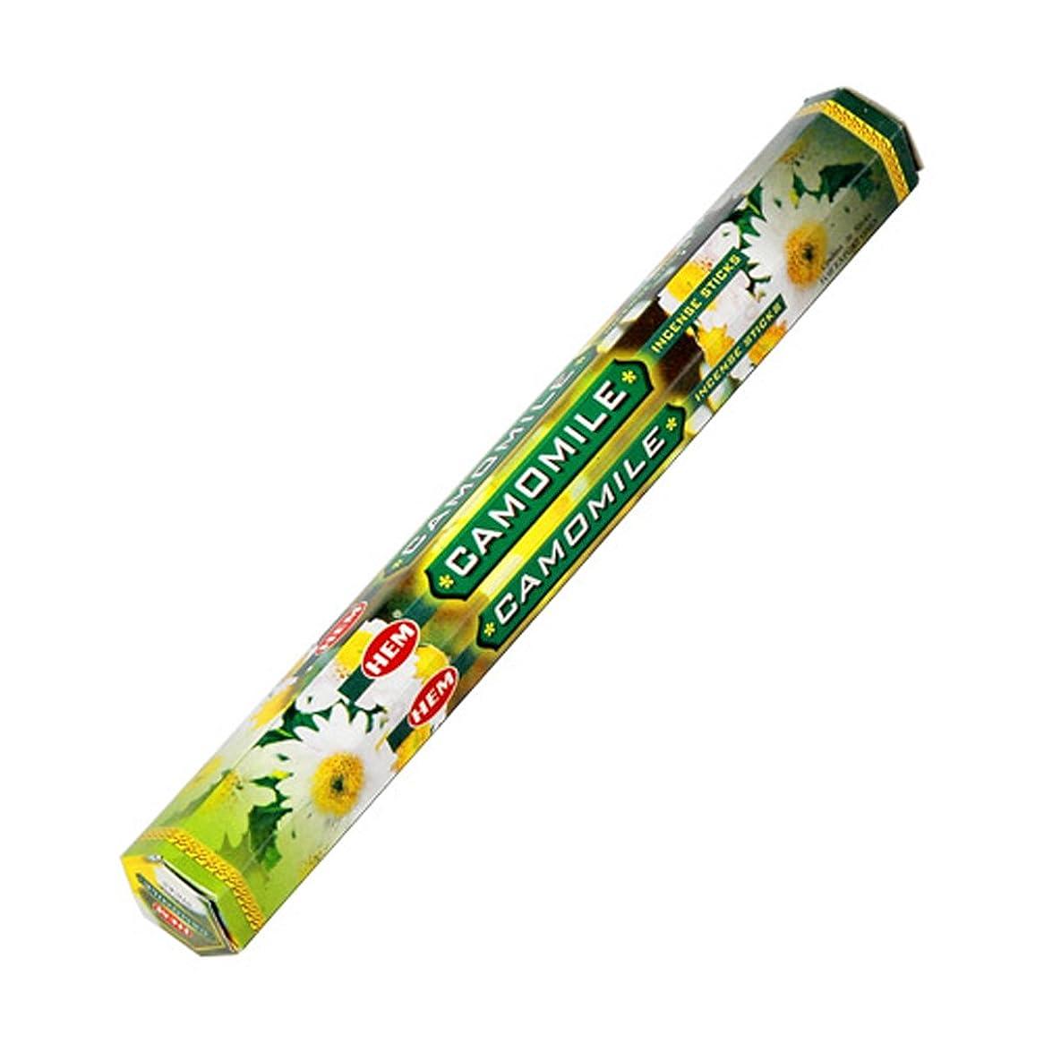 不愉快に持続的リングバックHEM(ヘム) カモミール CAMOMILE スティックタイプ お香 1筒 単品 [並行輸入品]