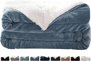 LIANLAM Sherpa Fleece Blanket Twin Size Dual Sided Blanket Super Soft and Warm Fuzzy Plush Cozy Luxury Bed Blankets Microfiber (Carolina Blue, 65