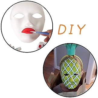 MICHLEY 12pcs DIY Full Face Cosplay Mask White (12pcs boy), Size 6x9 inch