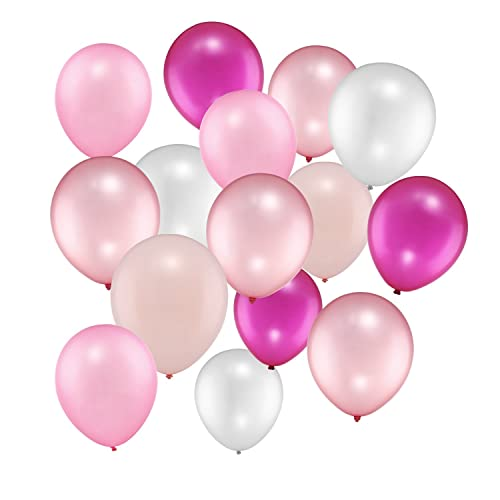 100 Pieces 12 Inches Pink Series Balloons For Wedding Party Decorations 5 Colors