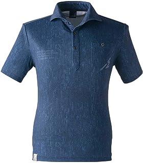 アイズフロンティア ストレッチプリント半袖ポロシャツ 705P M I.D.ブルー