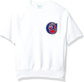 Champion LIFE Mens T9596G Reverse Weave Short Sleeve Crew Sweatshirt